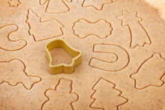 Gingerbread dough for christmas cookies Royalty Free Stock Image