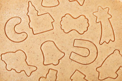Gingerbread dough for christmas cookies Royalty Free Stock Photography