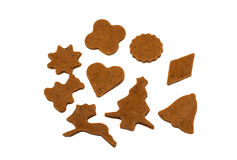 Gingerbread dough for Christmas cookies Stock Images