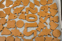 Gingerbread dough for Christmas cookies Royalty Free Stock Photos