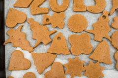 Gingerbread dough for Christmas cookies Royalty Free Stock Images