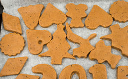Gingerbread dough for Christmas cookies Stock Photos