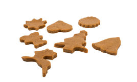 Gingerbread dough for Christmas cookies Royalty Free Stock Photo