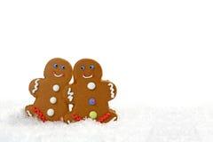 gingerbread eachother пар смотря влюбленность Стоковая Фотография RF