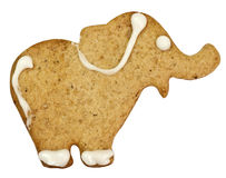 Gingerbread elephant with clipping path Stock Images