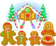 gingerbread семьи eps Стоковые Изображения RF