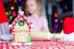 Gingerbread fairy house for Christmas on Royalty Free Stock Photo