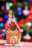 Gingerbread fairy house decorated by colorful Stock Images
