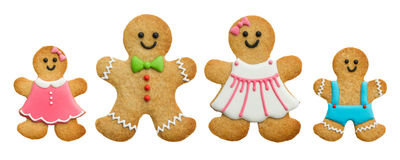 Gingerbread family stock photos
