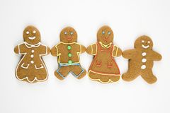 Gingerbread family. Royalty Free Stock Photo