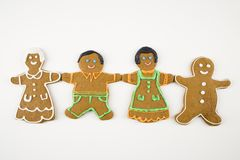 Gingerbread family. Royalty Free Stock Photos