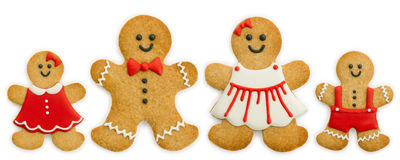 Gingerbread family Royalty Free Stock Photo