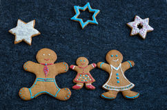 Gingerbread family Stock Image