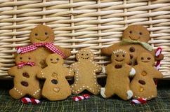 Gingerbread family Stock Photos