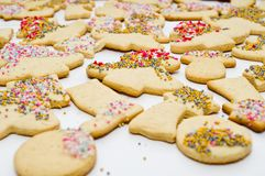 Gingerbread. Figurines cookies for Christmas Holiday Royalty Free Stock Image