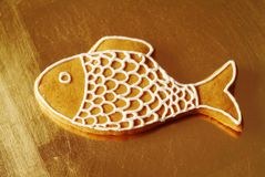 Gingerbread fish Stock Image