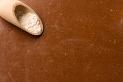 Gingerbread and flour Stock Image