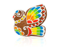 Gingerbread in the form of a bird Stock Photos