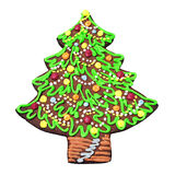 Gingerbread in the form of Christmas tree Royalty Free Stock Image