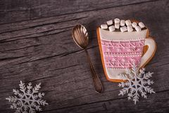 Gingerbread in the form of cup Royalty Free Stock Photo
