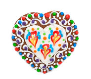 Gingerbread in the form of a heart Stock Image