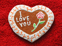 Gingerbread in form of heart Royalty Free Stock Photography