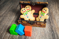 Gingerbread in the form of little man Stock Photo