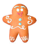 Gingerbread in the form of man, isolated Royalty Free Stock Photography