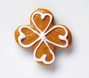 Gingerbread four leaf clover Stock Images