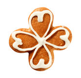 Gingerbread four leaf clover Royalty Free Stock Images