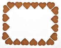 Gingerbread frame Royalty Free Stock Images