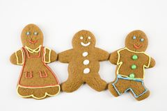 Gingerbread friends. Royalty Free Stock Images