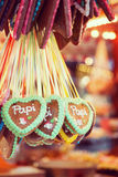 Gingerbread at a German Christmas Market. Royalty Free Stock Photography