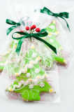 Gingerbread gift royalty free stock photos