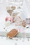 Gingerbread gift tag Royalty Free Stock Images