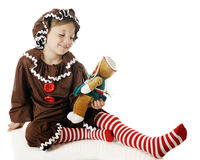 Gingerbread Girl with Gingerbread Doll Royalty Free Stock Photography