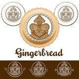 Gingerbread with glaze royalty free illustration