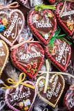 Gingerbread hanging at the christmas market in Poland Royalty Free Stock Image