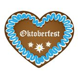Gingerbread heart blue white oktoberfest royalty free illustration