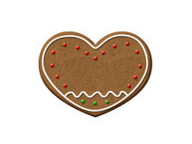 Gingerbread Heart Christmas Cookie Stock Photo