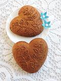 Gingerbread heart cookie Royalty Free Stock Images