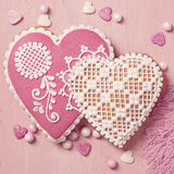 Gingerbread heart cookie Royalty Free Stock Photos