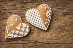 Gingerbread heart cookies Stock Image