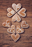 Gingerbread heart cookies Royalty Free Stock Photo