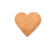 Gingerbread heart isolated on white Royalty Free Stock Image
