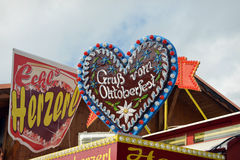 Gingerbread heart on Oktoberfest Royalty Free Stock Photos