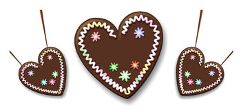 Gingerbread heart Royalty Free Stock Photo