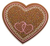 Gingerbread Heart Sweet Candy Love Symbol Stock Photography