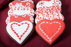 Gingerbread heart and tulips Stock Images