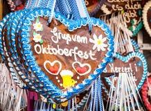Gingerbread heart Stock Photos